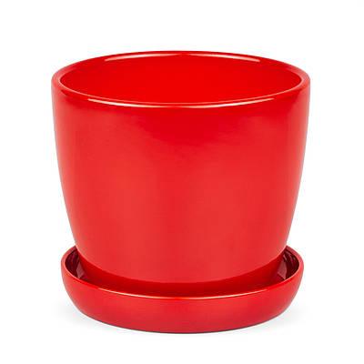 Горшок для растения Зеленая сотка Сонет премиум 12 х 13 см 1 л Красный (000004511)