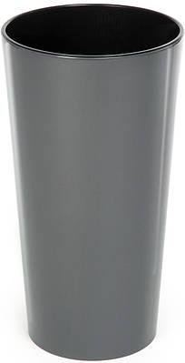 Пластиковое кашпо Lamela Лилия 57 х 30 см Серый для выращивания орхидей (000002588)