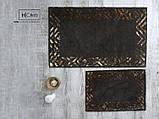 Килимки В Ванну Кімнату Бавовняні Туреччина H C&W Модель Hermes Золото, Мідь, Пудра, Сірий, фото 6