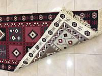 Двостороння доріжка ткана з орнаментом 120*80 см