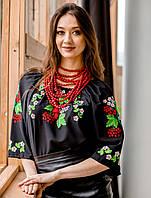 Вишита сорочка шифонова Цвіт калини, фото 1