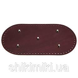 Дно для сумки шкіряне, з ніжками 30*15, колір бордове