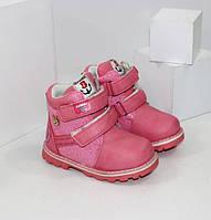 Ботинки розовые зимние 22-27, фото 1