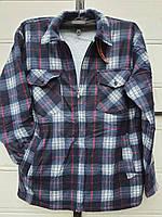 Рубашка теплая мужская на меху размер 50 в розницу