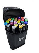 Набір скетч маркерів для малювання Touch Raven 24 шт./уп. двосторонні професійні фломастери для