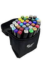 Набір скетч маркерів для малювання Touch Raven 36 шт./уп. двосторонні професійні фломастери для