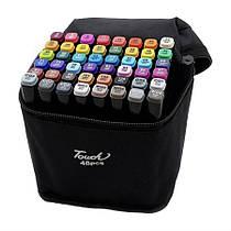 Набір скетч маркерів для малювання Touch Raven 48 шт./уп. двосторонні професійні фломастери для