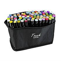 Набір скетч маркерів для малювання Touch Raven 80 шт./уп. двосторонні професійні фломастери для