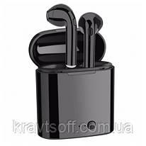 Беспроводные bluetooth-наушники i7S 5.0 с кейсом, black