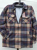 Рубашка теплая мужская на меху размер 52 в розницу