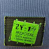 М 4535. Шапка весняна трикотаж для хлопчика з відворотом, 3-10 років, різні кольори, фото 6
