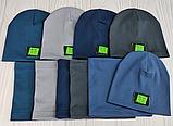 М 4535. Шапка весняна трикотаж для хлопчика з відворотом, 3-10 років, різні кольори, фото 7