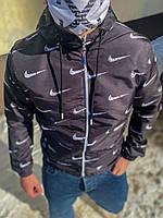 Ветровка мужская nike черная демисезонная ветрозащитная найк мужская одежда весна XL