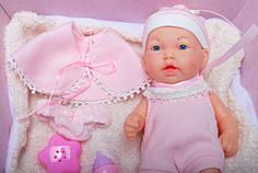 Детская кукла-пупс 12 дюймов  с соской в коробке розовая 2001330