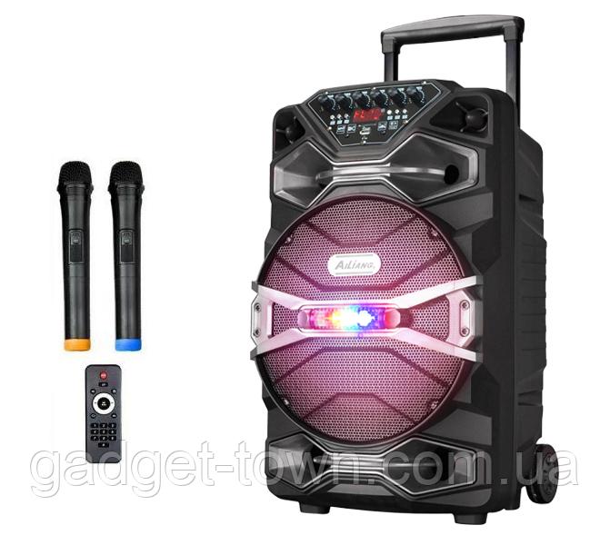 Колонка аккумуляторная Ailiang U1318SK c радиомикрофонами (200W/USB/BT/FM)