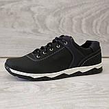 Туфлі чоловічі чорні спортивні демисезон (Кт-26чбк), фото 2
