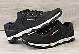 Туфлі чоловічі чорні спортивні демисезон (Кт-26чбк), фото 3