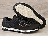 Туфлі чоловічі чорні спортивні демисезон (Кт-26чбк), фото 4