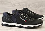 Туфлі чоловічі чорні спортивні демисезон (Кт-26чбк), фото 5