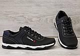 Туфлі чоловічі чорні спортивні демисезон (Кт-26чбк), фото 6