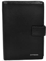Стильный кожаный кошелек для мужчин DINGGO (ДИНГГО) DG01018-black