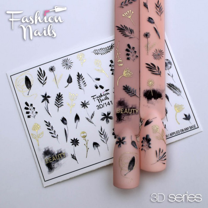 3D-декор для дизайну нігтів Наклейки водні для нігтів 3д слайдер для нігтів - Fashion Nails