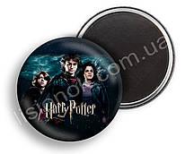 Магнит Гарри Поттер, Рон, Гермиона и Гарри, для фанатов Harry Potter, диаметр 44мм