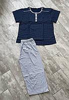 Пижама женская капри и футболка с пуговицами