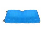 Шторка солнцезащитная для автомобиля синяя с логотипом  S01 синяя
