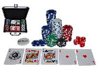 Набор для игры в покер в металлическом кейсе 100 ф, фото 1