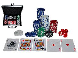 Набор для игры в покер в металлическом кейсе 100 ф