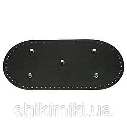 Дно для сумки шкіряне, з ніжками 30*15, колір чорний,, матовий