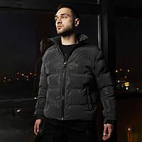 Короткая весенняя куртка-пуховик Holla черный рефлектив