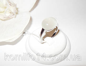 Срібне кільце з натуральним котячим оком, фото 2