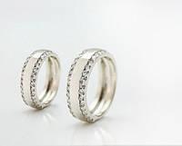 Пара обручальных колец из серебра с цирконом от WickerRing