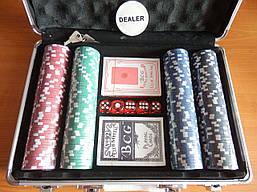 Набор для игры в покер в металлическом кейсе. 200 ф
