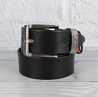 Ремень кожаный под джинсы черный 8208-408-1