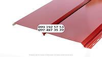 Металлосайдинг Евробрус металлический имитация прямой доски Словак 0.45мм RAL 3011 красный, ярко-красный