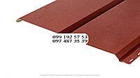 Металлосайдинг Евробрус металлический имитация прямой доски Немец 0,50мм RAL 3005 Винно-красный, темная-вишня