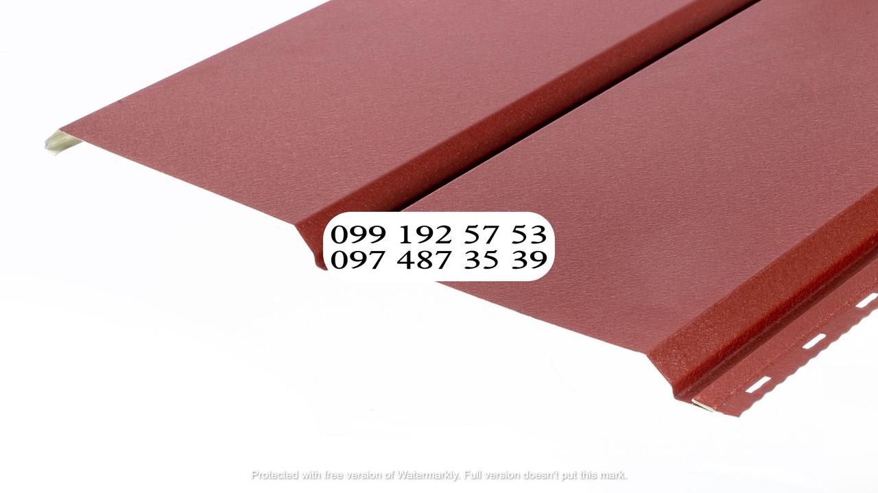 Металлосайдинг Евробрус металлический имитация прямой доски Немец 0,50мм RAL 3009 Красная окись, красный