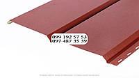Металлосайдинг Евробрус металлический имитация прямой доски Немец 0,50мм RAL 3009 Красная окись, красный, фото 1