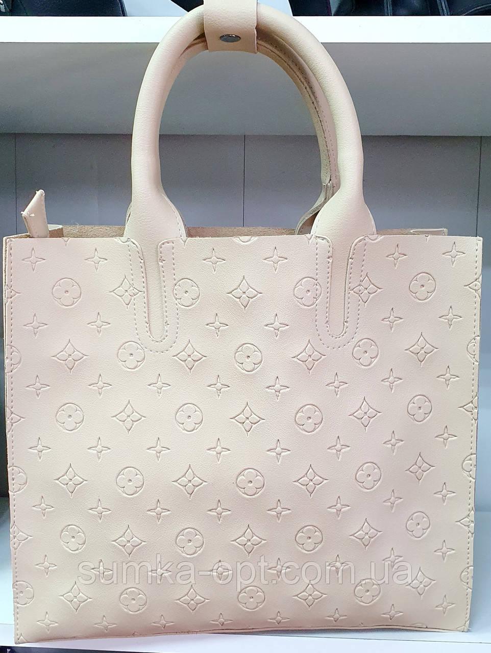 Брендовая женская сумка Louis Vitton 32*28 см, молочная