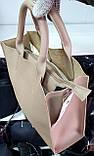 Брендовая женская сумка Louis Vitton 32*28 см, молочная, фото 2