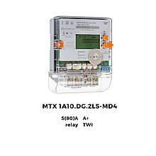 Счетчик однофазный многотарифный MTX 1A10.DG.2L5-MD4