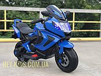 Детский мотоцикл на аккумуляторе с резиновыми колесами, электромотоцикл BMW M 3681AL-4 синий