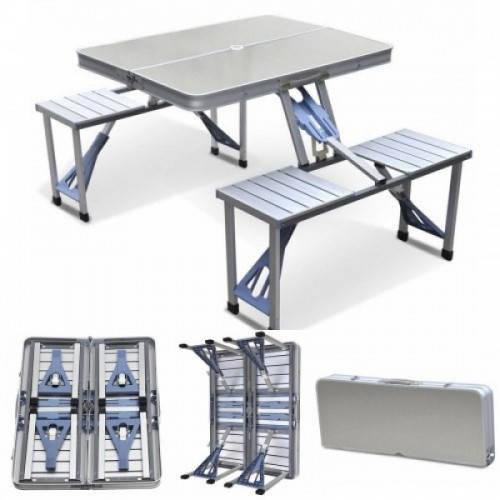 Стол Picnic Table¶Складной алюминиевый стол¶для пикника со стульями¶