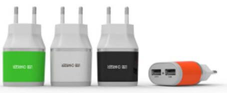 Адаптер на 2 USB 220V YD-2U  (цвета в ассортименте), фото 2