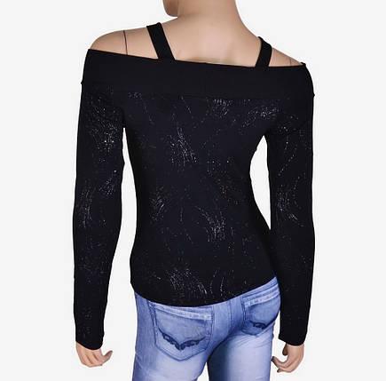 Женский свитерок с накаткой и открытыми плечами (арт. WO0550), фото 2