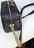 Брендова жіночий сумка Zara 28*30 см, чорна з червоним, фото 2