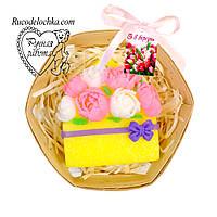 Мило набір 8 березня, букет півоній, подарунок мамі, подрузі, жінці, ручна робота